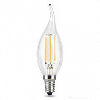 Лампа Gauss LED Filament Свеча на ветру E14 11W 720lm 2700K 1/10/50 - Clear